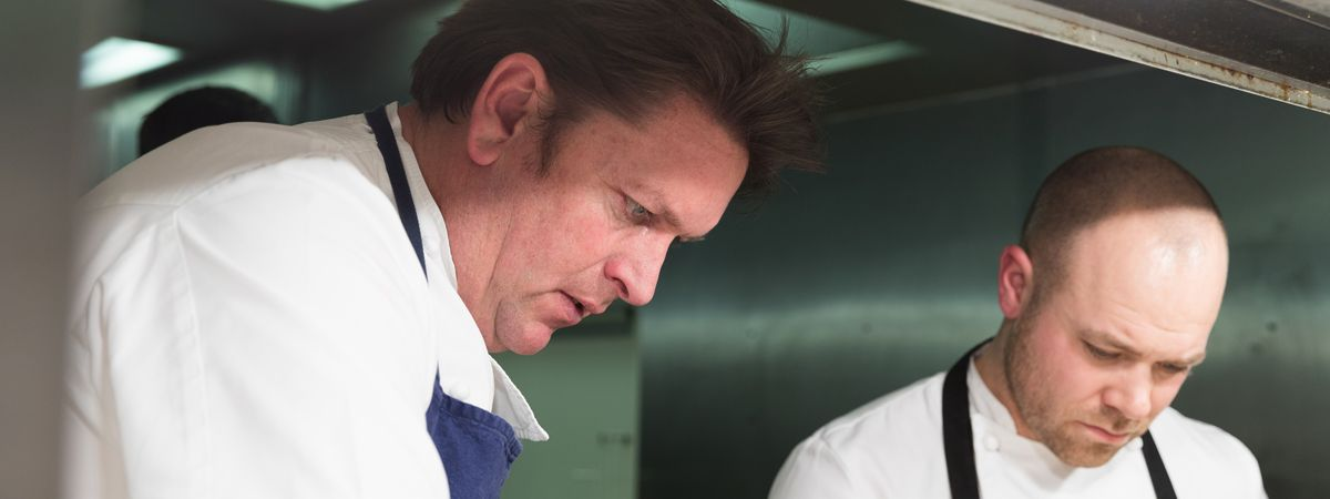 Head chef James Martin at the James Martin Restaurant