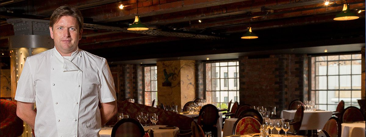 Dining area at the James Martin Restaurant