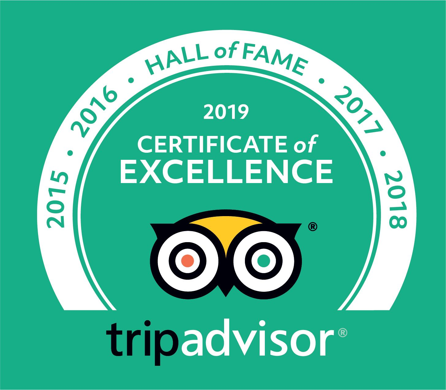 Trip Advisor Certifivate of Excellence